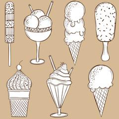 Doodle ice-cream set