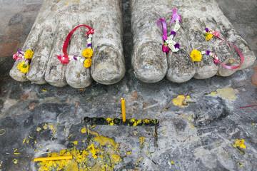Füße von Buddha in Sukhothai