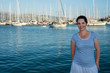 Smiling woman in Lefkada port