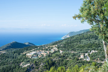 Top view of ionian sea