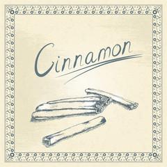 Vintage cinnamon illustration