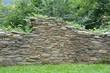 Leinwanddruck Bild - Original Natursteinmauer alt