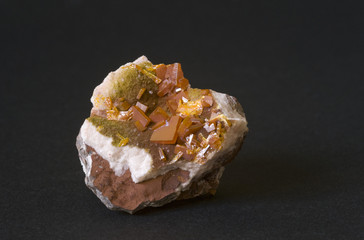 Wulfenite from Mexico. 4cm across.