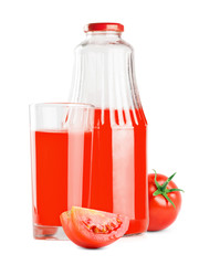Tomato juice bottle