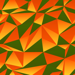 green and orange triangle background