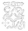 arrows sketchy elements