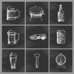Sketch beer icons