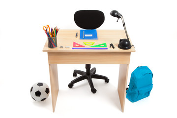 Student Desk - Stock Photo