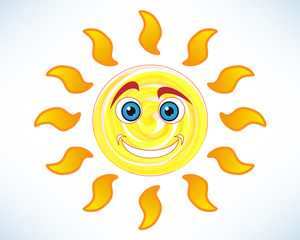 Happy and funny sun