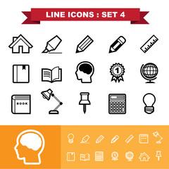 Line icons set 4