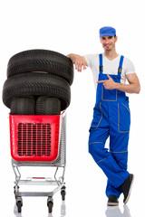 mechanic shopping  new tires