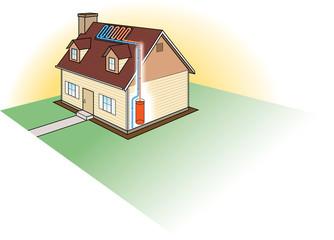 Solar Heating System Diagram