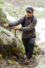 Teenage climber