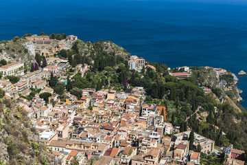 View of Taormina from above