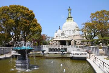Japan - Himeji. Nagoyama Cemetery gardens.