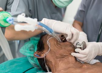 insert double lumen endotracheal tube