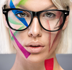 High fashion look with glasses