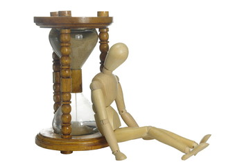 old  hourglass and dummy