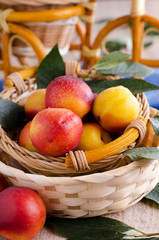 fruit lying in a wicker basket