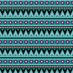 seamless colorful tribal pattern