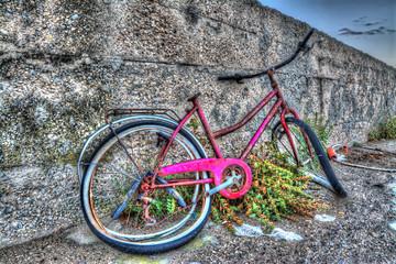 bike and wall