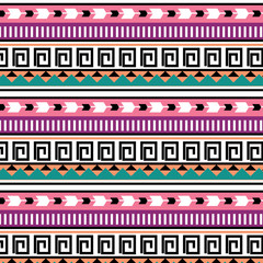 seamless colorful tribal pattern 2