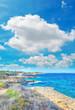 coastline under clouds