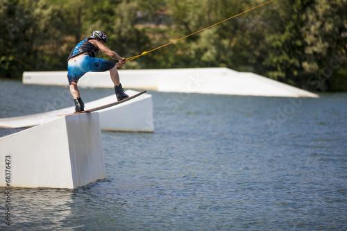 Deurstickers Water Motorsp. Kite-surf_4