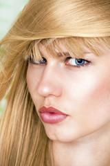 Pretty girl hairstyle and hair fashion portrait