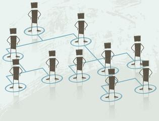 Illustration of a human resource organizational chart