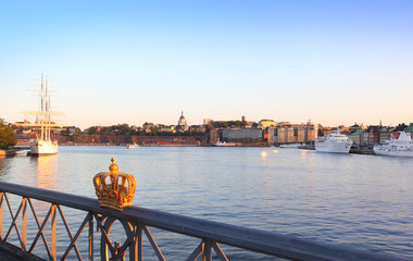 .stockholm view with crown