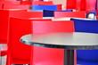 canvas print picture - Tische und Stühle