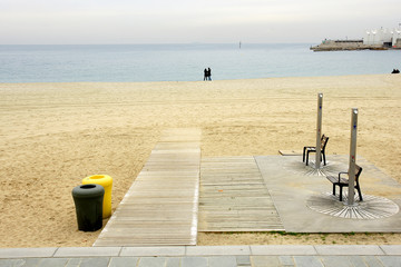 Playa de Nova Icaria de Barcelona