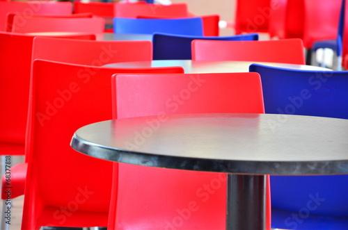 canvas print picture Tische und Stühle