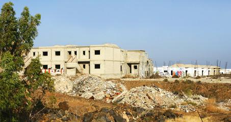 Construcciones paradas por la crisis, lanzarote, Islas Canarias