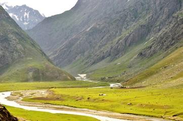 ヒマラヤの川と高原