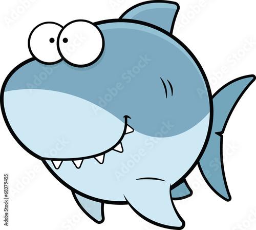 Cartoon Shark Happy - 68379455