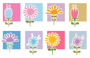 Retro Flowers Icons