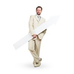 Businessman with arrow