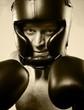 Strong aggressive boxer