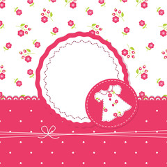 Baby girl background with dress