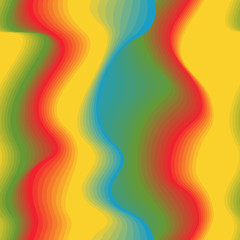 Rainbow Wavy Background