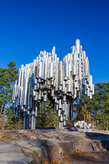 The Sibelius Monument in Helsinki.
