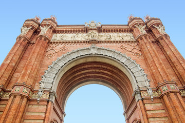 The Arc de Triomf in Barcelona, Catalonia, Spain.