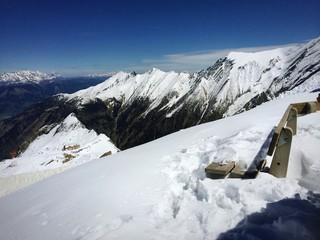 Gletscher Hohen Tauern mit Alpenblick