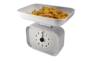Analogic balance with pasta