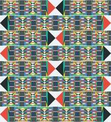 Geometric Pattern with Tribal and Textile Influences