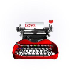 macchina da scrivere love