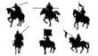 knight horse silhouettes - 68382009