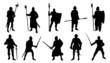 knight silhouettes - 68382011